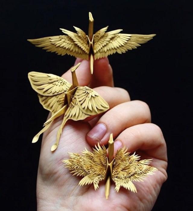 これが究極に進化した「折り鶴」なのか…!! 日本の折り鶴が海外アーティストの手にかかるとスゴイことになる