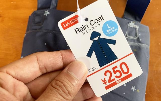 【100均検証】ダイソーの「250円レインコート」を着てみたんだけど、どうかな?