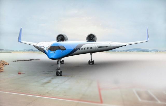 KLMオランダ航空が発表した新型飛行機「Flying-V」の形がギブソン製ギターと完全に一致 / 性能は結構いいもよう
