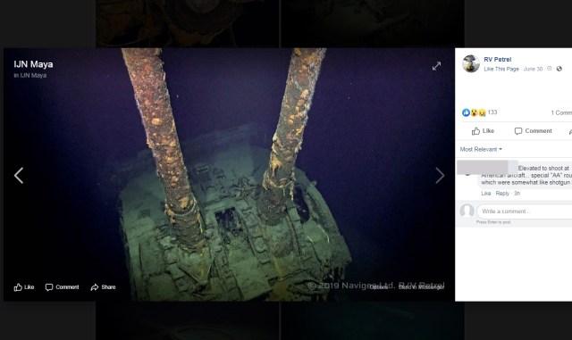 【朗報】重巡洋艦「摩耶」をパラワン島沖にて発見! 主砲やブリッジなどの写真を故ポール・アレン氏のチームが公開