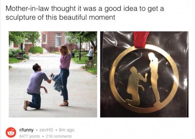 【すぐに分かる?】「ロマンチックなプロポーズ写真」をもとにメダルを作ったら予想外な出来に……って写真が話題に