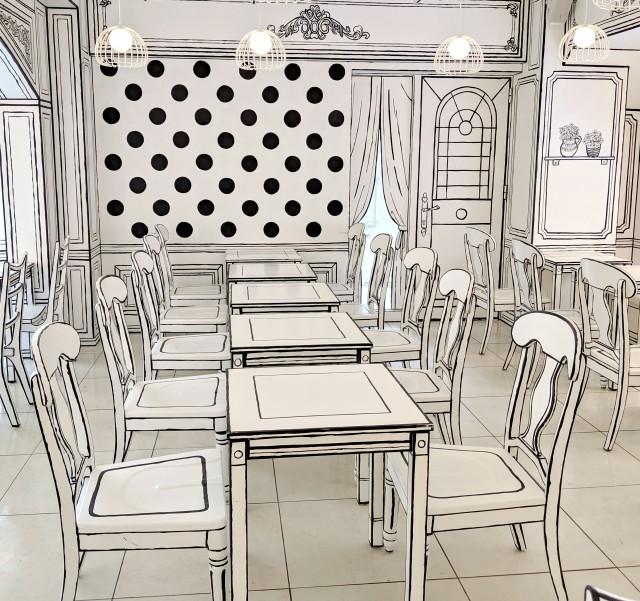 まるで漫画のなかに入ったみたい! 内装全部が2次元に見える「2D Cafe」がスゴイ!! 東京・新大久保