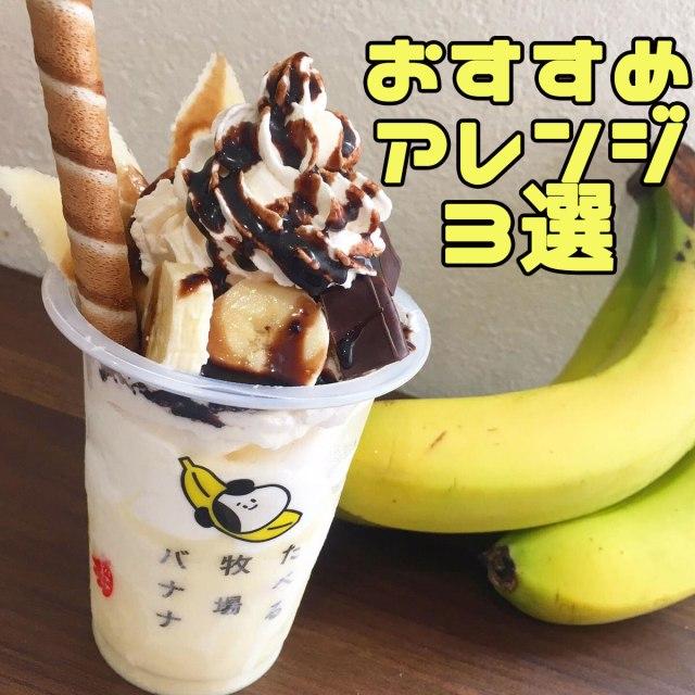 【新作】『たべる牧場バナナ』をデコってみた! おすすめアレンジ3選はこちらです 「まるごとチョコバナナ」「追いバナナ」「王道バナナパフェ」