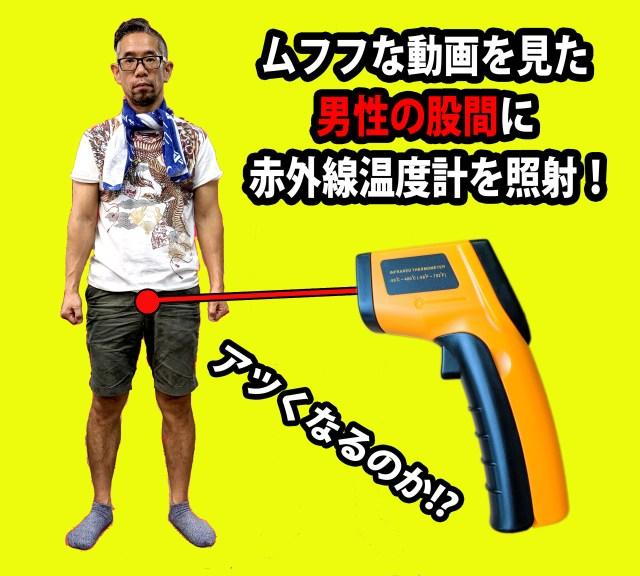 【真剣検証】ムフフな動画を見た「男性の股間」の温度は? 赤外線放射温度計を照射してみた!