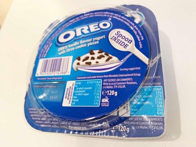 「オレオのヨーグルト」をイギリスで発見したので食べてみた → ぜひ日本でも発売して欲しい