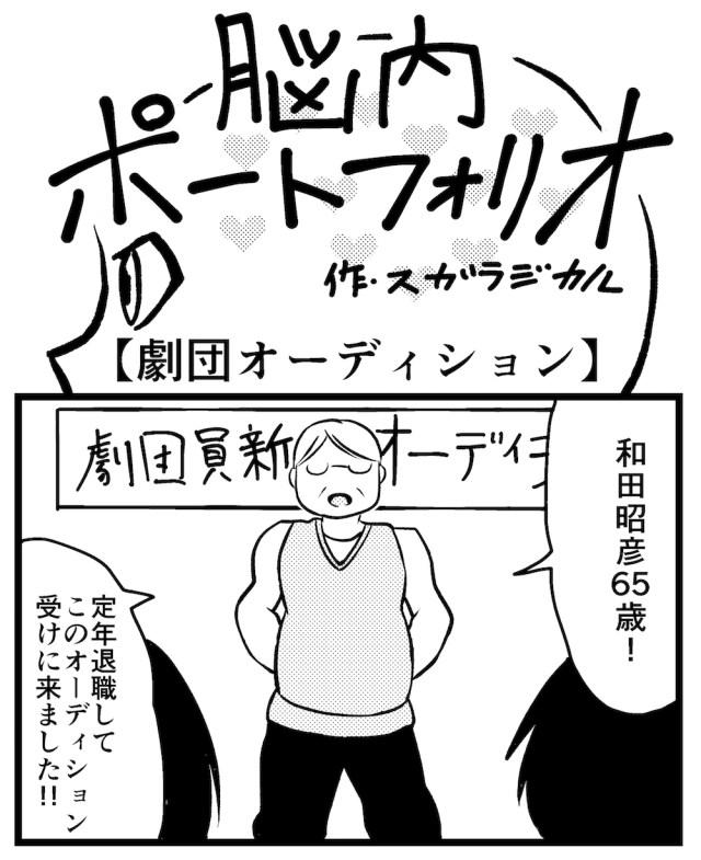 【4コマ】第19回「劇団オーディション」脳内ポートフォリオ
