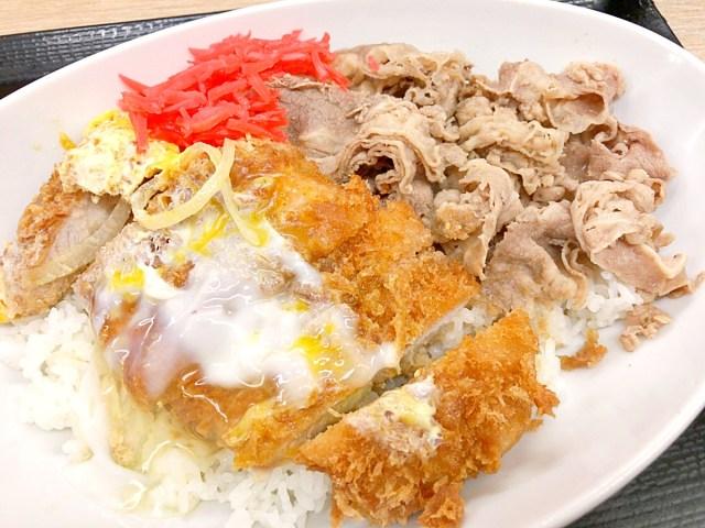 【偏差値0】かつやのアタマ悪い新商品『牛丼カツ丼』を食べてみた正直な感想 → 1+1=2…以上だッッ!