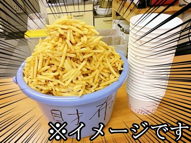 【激安】ロッテリアが『ウルトラまんが盛りポテト』を560円で販売するってよ! ポテトSが9個分入って560円なりィィィィイイイ!!
