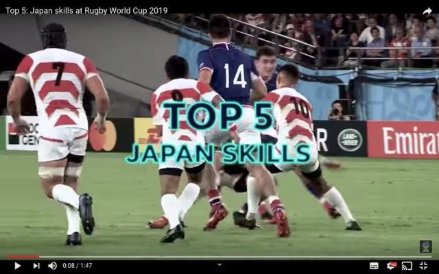 【ラグビーW杯】何度見ても泣ける! 日本代表の「華麗なスキル」ベスト5動画がこちら