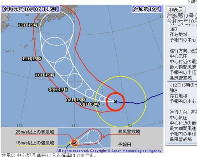 【ヤバイ】台風19号「ハギビス」、今年最強レベルに進化を遂げて列島直撃か? 三連休に影響も…!