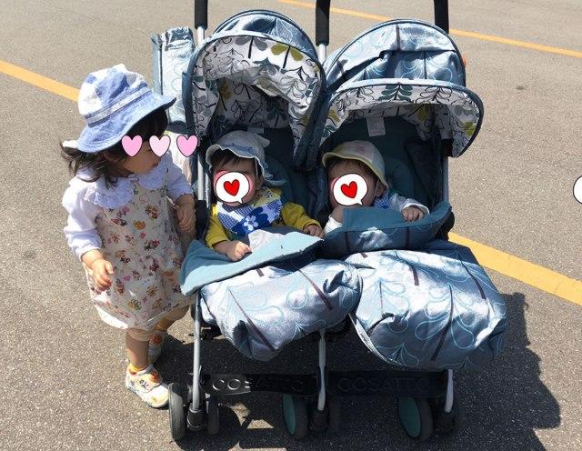 【双子ベビーカー問題とか】ワンオペで最適な『双子移動術』はどれ? スーパーへ行くなら? バスに乗るなら? 機動力と腰への負担で考えてみた