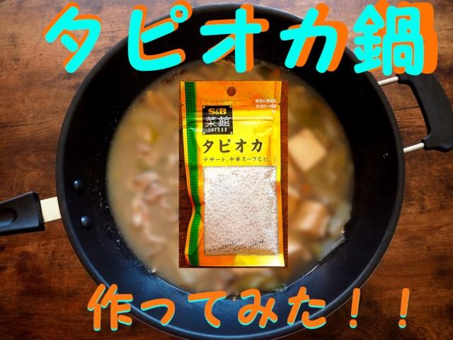 【プチ流行中】タピオカを鍋に入れる「タピオカ鍋」を作ってみた! スープには「午後の紅茶」を使ってみたぞ~!!
