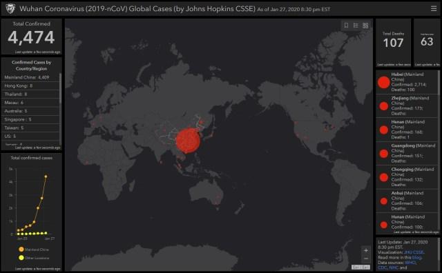 世界中の新型コロナウィルスの感染状況が一目わかるマップが登場