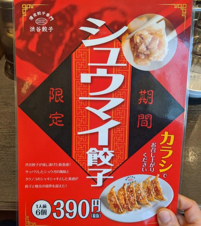渋谷餃子に登場した「シュウマイ餃子」はシュウマイなのか!? 餃子なのか!? どっちなんだコラッ!