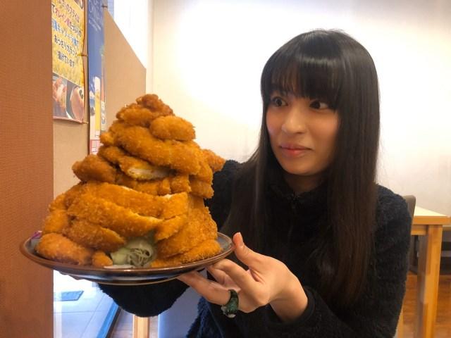 【高さ約20センチ】そびえたつ『若鶏のカツ』と遭遇! 感情の行き場をなくすと人って笑っちゃうんだな…  / 奈良「とんまさ」