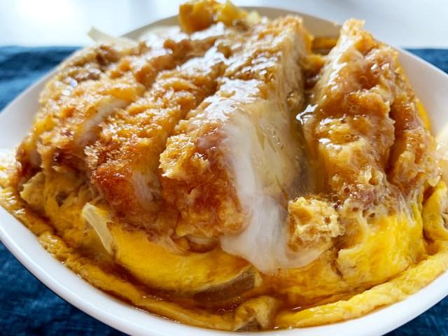 【公式レシピ】富士そばの「かつ丼」がレンジで3分! 家で超簡単にできる簡易レシピを作ってみた結果 → 本家よりウマくなった / 立ち食いそば放浪記:第229回