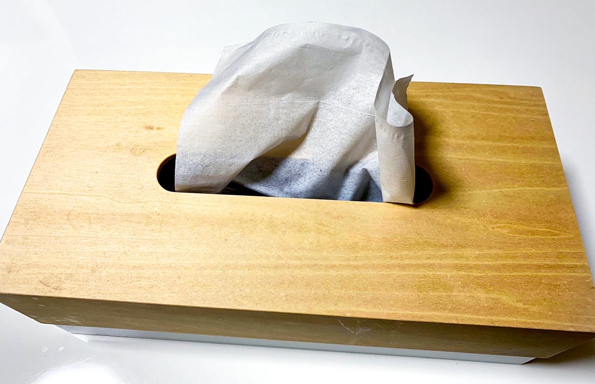 「木製ティッシュケース」商品写真