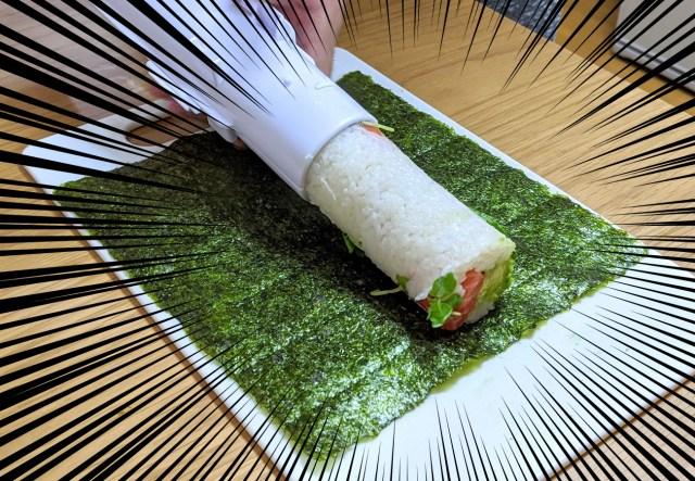 ニュージーランド産「寿司バズーカ」で太巻きをぶっ放してみた / 発射失敗でも寿司は美味い!