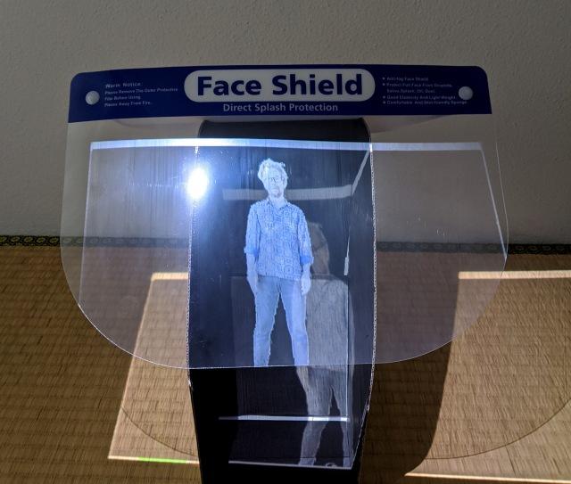 【検証】フェイスシールド + プロジェクターで「空中投影」に挑戦してみた / 見える! 浮いて見えるぞッ!!