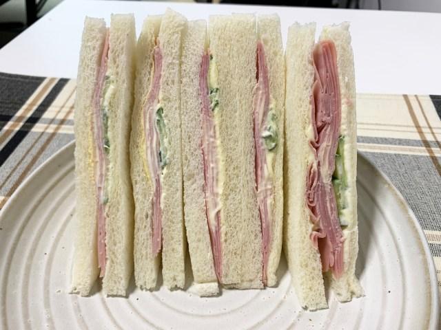 ローソン、セブン、ファミマの「ハムサンド」を食べ比べてみた結果 → 狂ったようにハムが詰め込まれているコンビニがあった