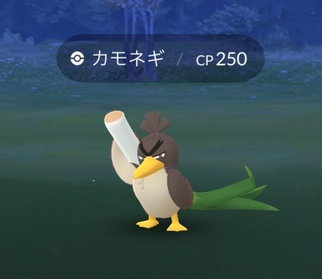 【ポケモンGO】カモネギ(ガラルのすがた)が大量発生中! タイムリミットは24時間!!