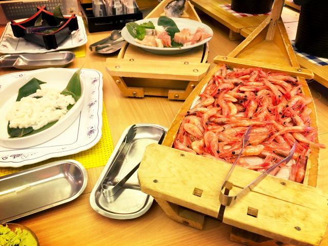 「ウオミサキホテル」(静岡)の食事写真