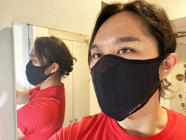 """D&M Runner Mask"" product usage example"