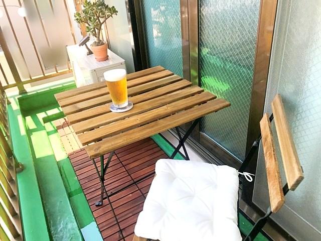 【簡単アレンジ】激狭ベランダを「IKEA」の商品だけでビアガーデンっぽくしてみた! かかった費用は1万3000円!!