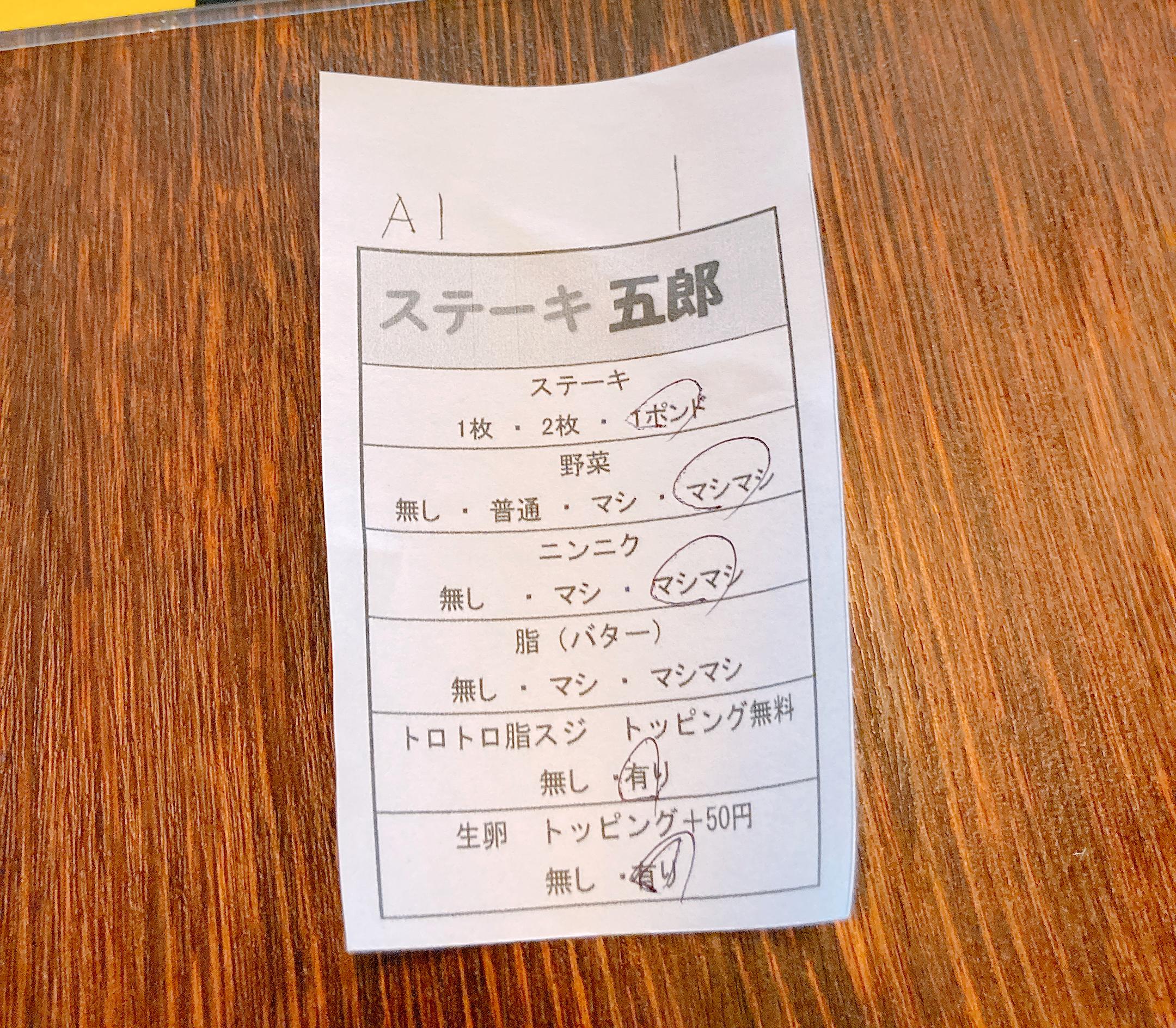 ステーキ 五郎