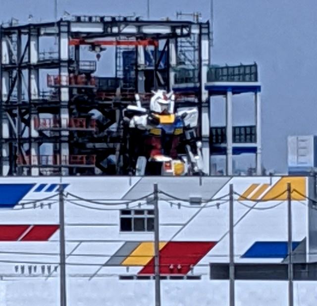 実物大ガンダムの本体がついに完成! 横浜・山下公園から肉眼で見ることができるぞ~!!