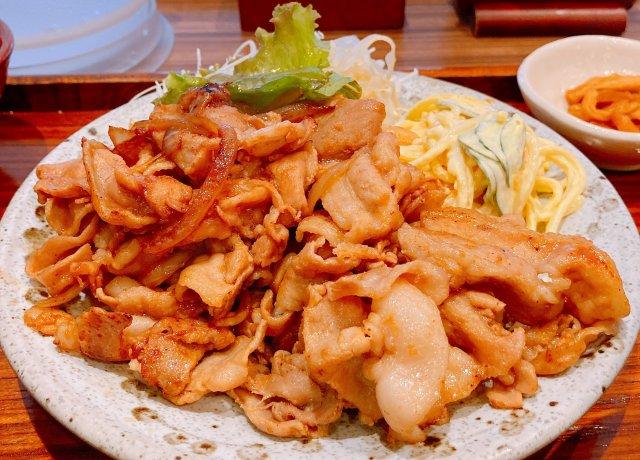 【レア店舗】大戸屋グループのガッツリ系定食屋「食べ処 三かみ」の生姜焼き定食(おかず1.5倍)を食べてみた!