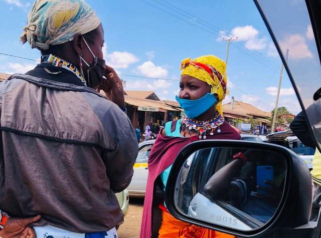 ケニアの田舎町にいたオシャレすぎるマスク美女 / マサイ通信:第414回
