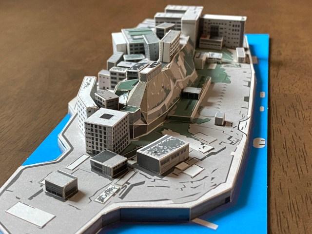 【廃墟】世界遺産「軍艦島」ペーパークラフトがかっこよすぎる! 幻の超過密都市を自分の手で作り上げよう