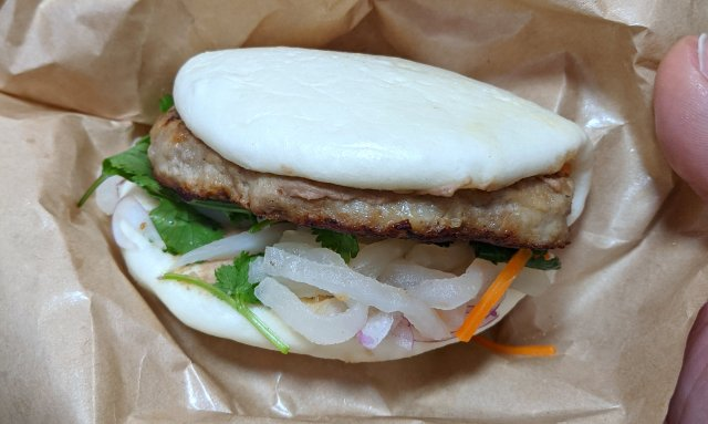 びっくりドンキーのハンバーガー登場!! デリバリー限定商品「アジアンパオバーガー」を食べてみた!