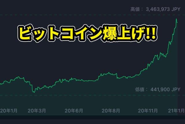 年末年始に「ビットコイン」が爆上げで最低値から10倍に!  3年前に投じた6万円がついにプラスになったぞ~!!