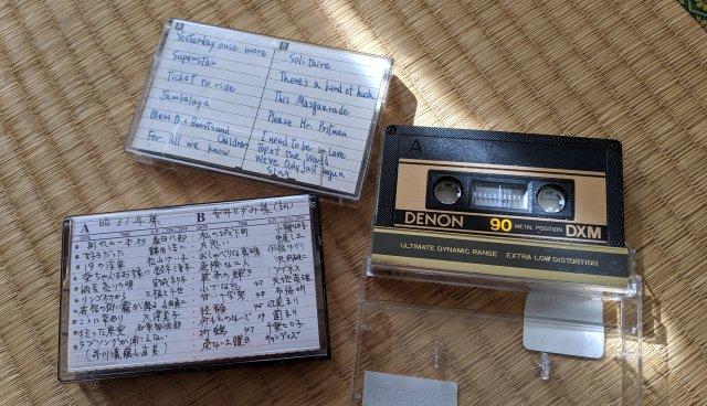 東急ハンズ渋谷店の「中古のカセットテープ」の売り方がとてもイイ! 手書きのインデックスカードがそのまま付いてくる