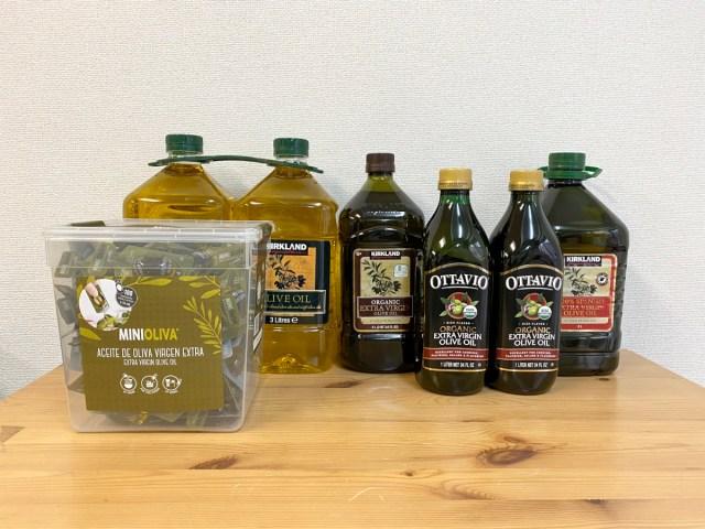 """【徹底比較】コストコの「オリーブオイル」で1番 """"買い"""" なのはどれなのか? 5種類を比べてみた結果…"""