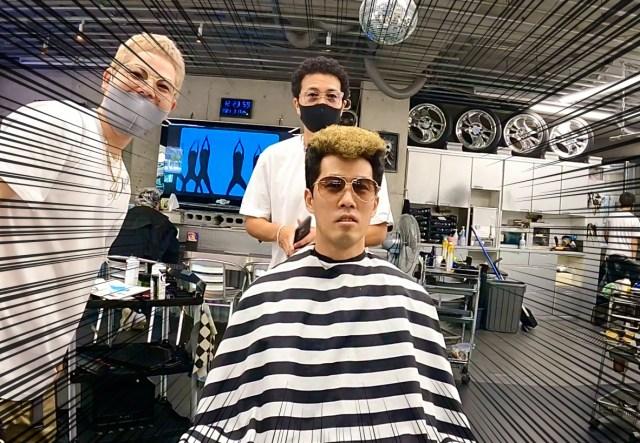 【沖縄】悪そうな髪型を得意とする理容室「ディープ」で金髪リーゼントに変身したでござる / 行こうぜピリオドの向こうへ