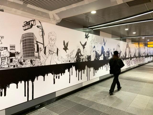【あと3日】『呪術廻戦』の巨大広告が渋谷駅に出現中! 展開期間はいつまでなのか集英社に問い合わせてみた