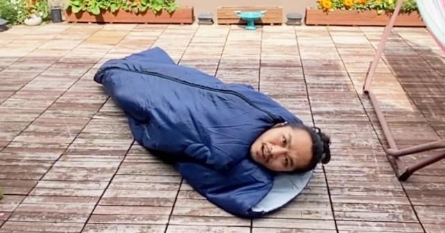 【100均検証】ダイソーに売ってた1000円の『寝袋(封筒型シェラフ)』が快適すぎて妄想とまらぬ〜!