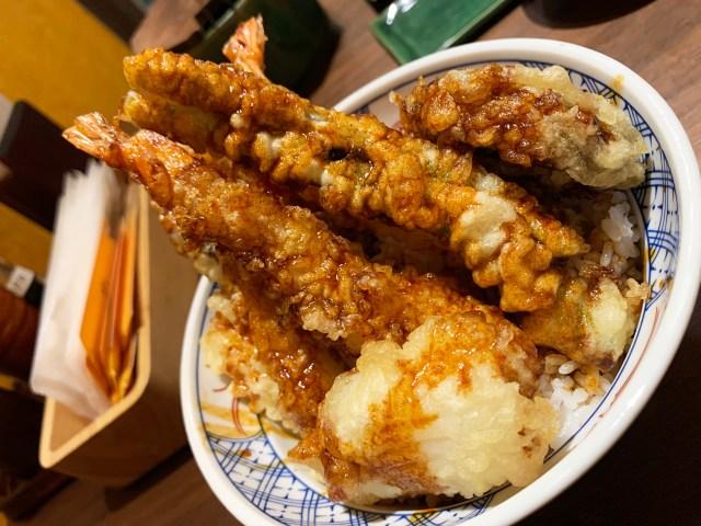 【逆輸入】シンガポールで天丼がブームに → そして生まれた「新発想の天丼」がこちら / 日本橋コレド室町テラス『天丼 琥珀』