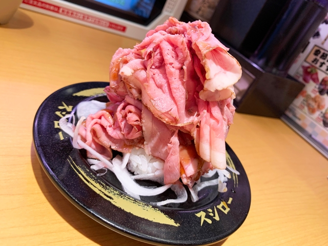 【爆盛り】スシロー「ローストビーフマウンテン」に追い肉ダブルした『ローストビーフエベレスト』が激ウマ! シャリが遭難する肉の山、爆誕