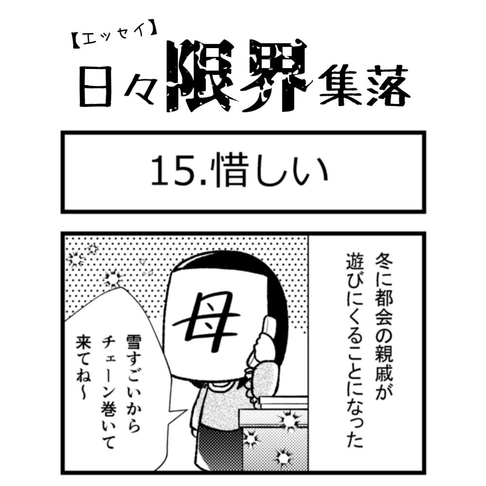 【エッセイ漫画】日々限界集落 15話目「惜しい」