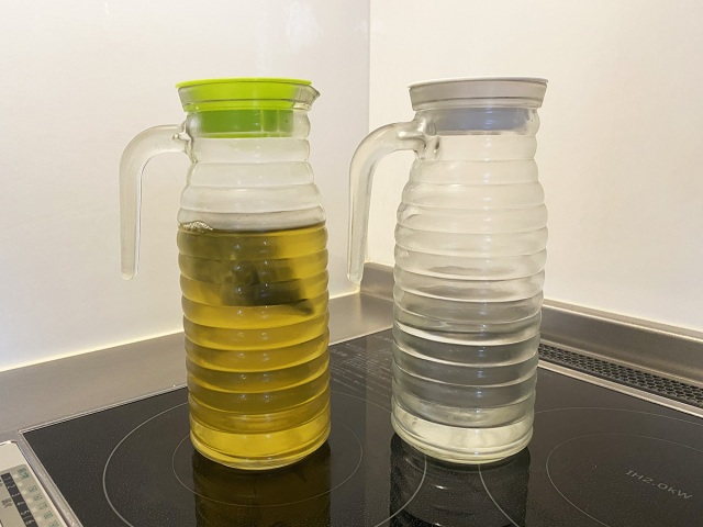 【100均検証】100円の冷水筒からダイソーの「200円ジュースポット(ガラス冷水筒)」にしたら最高すぎ