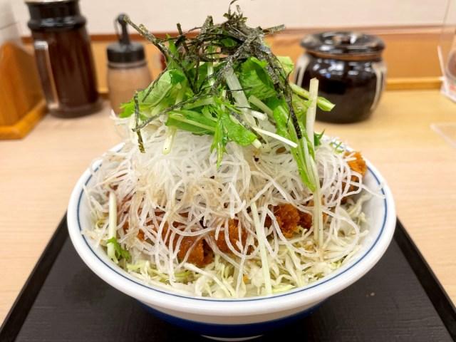 【悲報】かつや、だいこん屋になる / 野菜マシマシのさっぱり塩だれチョモランマ『塩カツ丼』の衝撃!