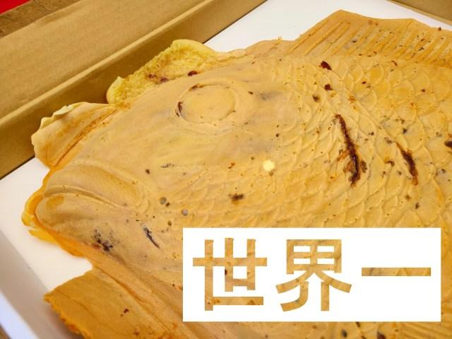【世界一】総重量なんと3.5キロ! 静岡の山中で販売されている「鯛焼き」は大きさも作り方もまさに規格外だった!