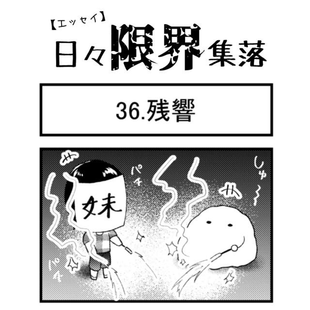 【エッセイ漫画】日々限界集落 36話目「残響」
