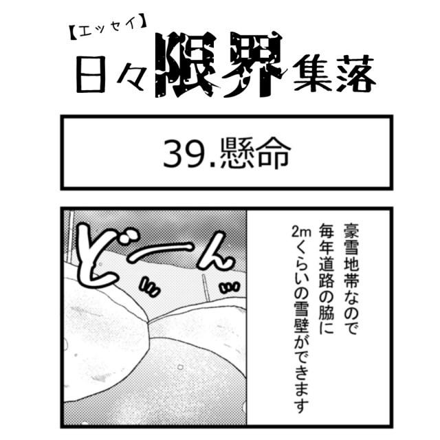 【エッセイ漫画】日々限界集落 39話目「懸命」