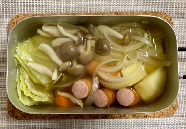 【簡単キャンプ飯】「ごろごろ野菜のほったらかしポトフ」は寒い季節に最高! 身も心も温まる冬のごちそうは放置して作る!