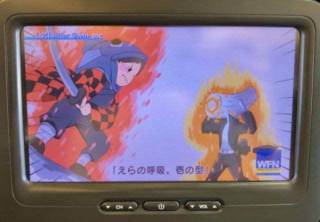 【ほぼ鬼滅】スターフライヤーの機内放送で大人気「鮭たろう」がエラの呼吸で敵と対決! そして北に不時着するヒロイン…ってヤバ過ぎるだろ